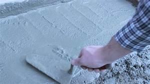 Dosage Ciment Pour Moulage : astuce pour lisser du ciment ma onnerie youtube ~ Melissatoandfro.com Idées de Décoration