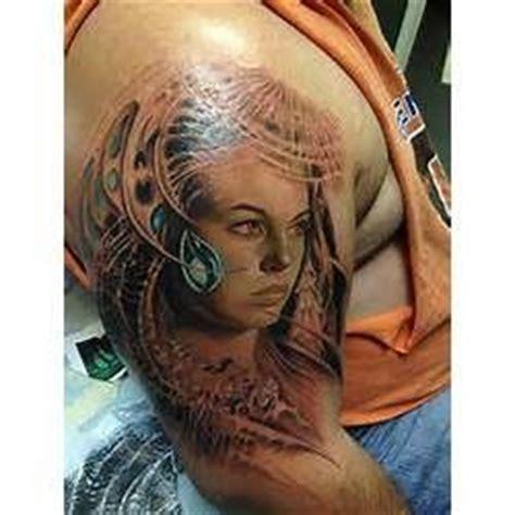 girl face tattoo  arm