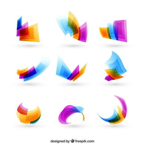 Abstract Shapes Shape Vector Png by Colorful Abstract Shapes Vector Free