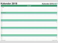 KALENDER 2018 mit Feiertagen & Ferien
