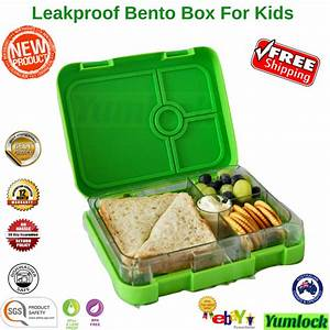 Bento Lunch Box Food Container School Picnic 4 Leakproof ...