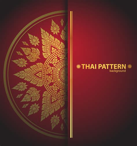 Thai Pattern Background Vector Material Free Download