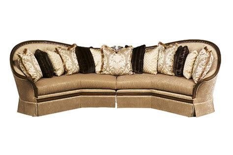 exposed wood frame sofa luna exposed solid wood frame sectional sofa with pillows