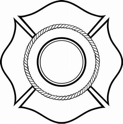 Fire Shield Template Firefighter Fireman Vinyl Cross