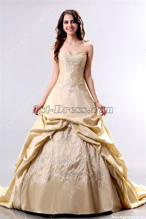 Elegant Champagne 2013 Bridal Gowns with Corset:1st dress.com