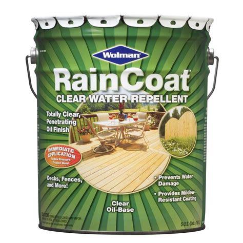 Wolman Raincoat Deck Stain by Wolman 5 Gal Raincoat Clear Based Water Repellent