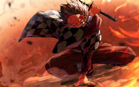 demon slayer kimetsu  yaiba tanjirou kamado wallpaper