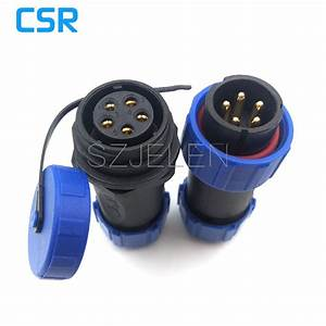Aliexpress Com   Buy Sp2110  P5 S5  Waterproof Connector 5 Pin  High Power Led Cable Connector 5