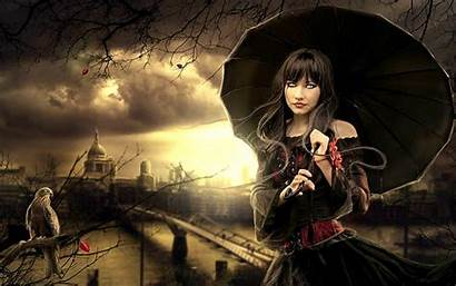 Gothic Dark Fantasy Witch Wallpapers 3d Woman