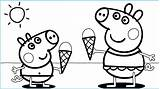 Ice Cream Coloring Pages Peppa Printable sketch template