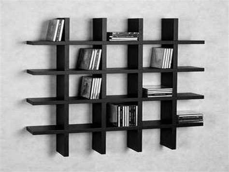 furniture category mid century modern bookcases bookcase fancy black finished custom modern wall shelves for book