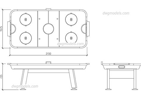 air hockey table dimensions air hockey table dwg size free autocad blocks download