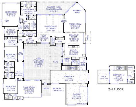 courtyard home plans luxury modern courtyard house plan
