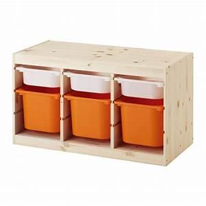 Spielzeug Aufbewahrung Ikea : trofast aufbewahrung mit boxen kiefer wei orange ikea ~ Michelbontemps.com Haus und Dekorationen