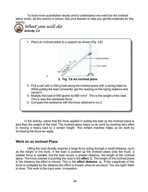 math skills worksheet work and energy answers work
