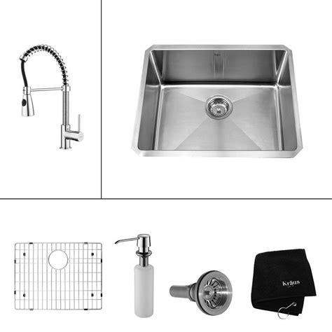 kitchen sink attachments kraus all in one undermount stainless steel 23 in single 2567