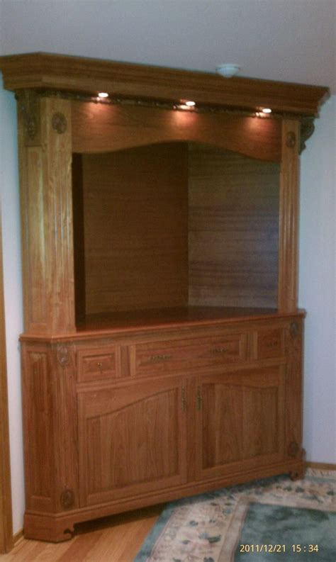 corner tv cabinet    tv woodworking projects