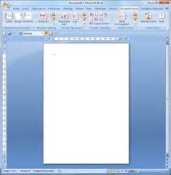 Microsoft Word Blank Document Template