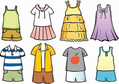 Clothes Summer Clip Vector Illustrations Children Cartoons