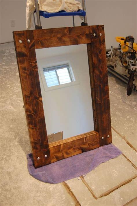 diy      rustic farmhouse mirror