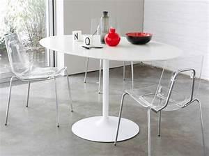 Table De Cuisine Blanche : table de cuisine ovale blanche choix d 39 lectrom nager ~ Teatrodelosmanantiales.com Idées de Décoration