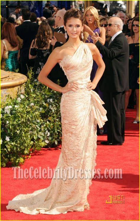 nina dobrev eine schulter formale kleid  emmy awards