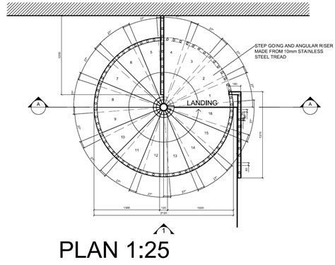 circular staircase plans spiral staircase detail drawings autocad on behance