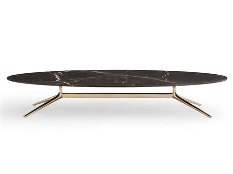 COSMOS Oval coffee table Cosmos Collection by Poliform design Jean Marie Massaud