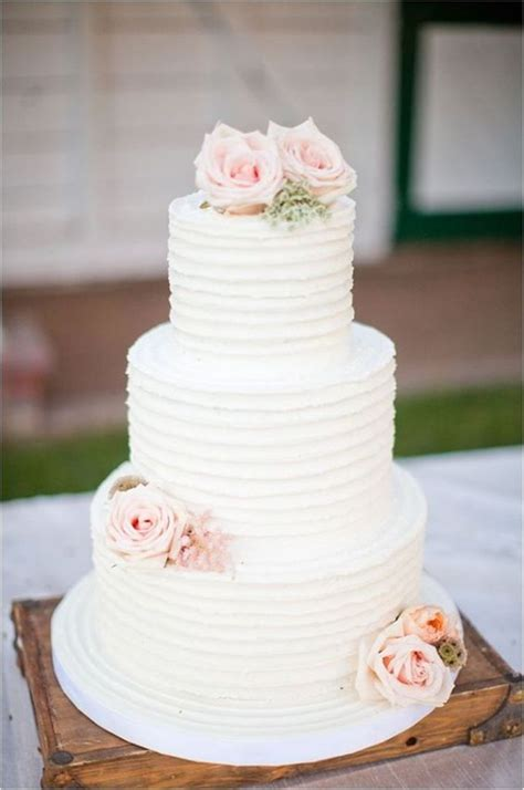 40 elegant and simple white wedding cakes ideas page 3