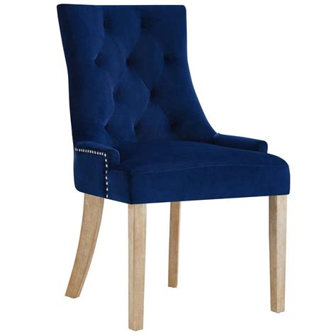 modway pose navy upholstered fabric dining chair eei