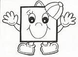 Square Coloring Preschool Crafts Worksheets Shapes Printable Kindergarten sketch template