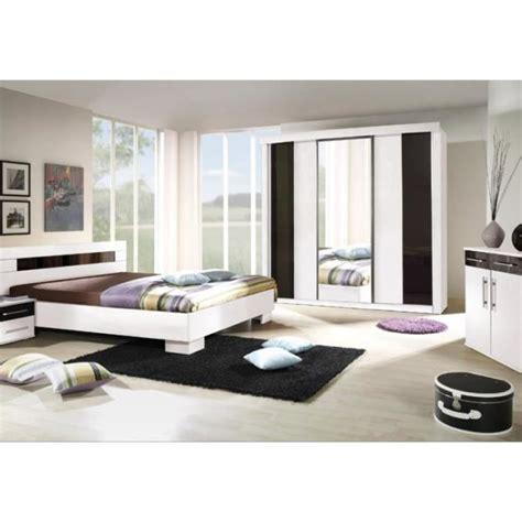 cdiscount chambre adulte chambre 224 coucher compl 232 te dublin adulte design blanche