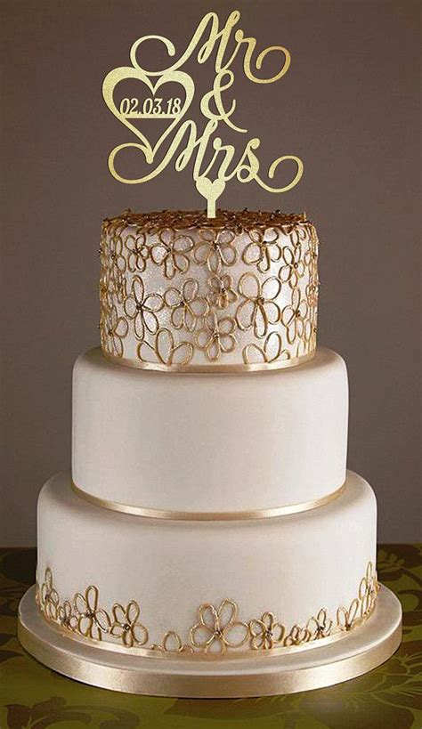 wedding cake topper  personalized surname wood cake