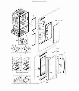 Parts For Samsung Rf28hdedbsr  Aa    0000  Refrigerator Door R Parts