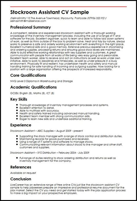 key skills achievements cv sles