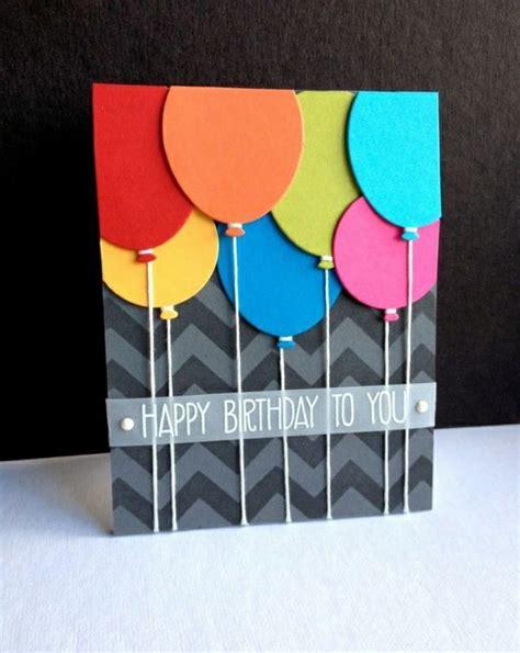 geburtstagskarte basteln aus papier basteln mit papier karten selber machen diy karten basteln sch 246 ne originelle ideen ballons