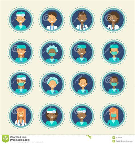 För Sjukhusmedicin För Medicinsk Doktor Icons Set Clinics Samling För Knapp För Konsultation För ...
