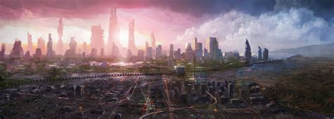 Future Background Future City Wallpapers Wallpaper Cave