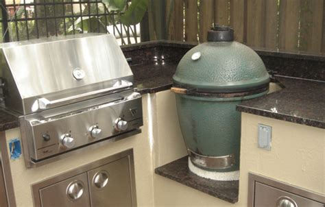 big green egg kitchen outdoor kitchens with granite countertops 4623