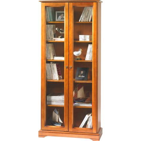 biblioth 232 que 2 portes vitr 233 es plaqu 233 e merisier louis