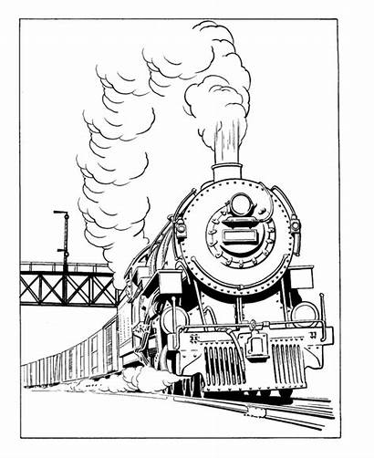 Steam Trains Drawing Train Coloring Pages Printable