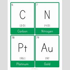 Customizable And Printable Periodic Table Flash Cards I Used This Site For My Cards