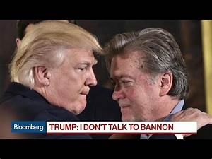 Trump Talks Immigration as Feud With Bannon Simmers - YouTube
