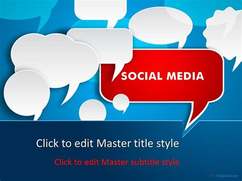 social media discussion  template powerpoint