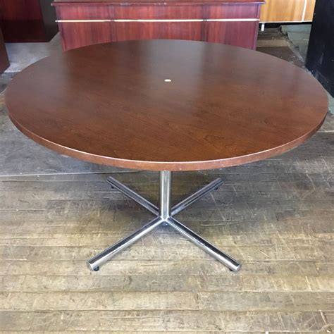 wood veneer conference table dark cherry