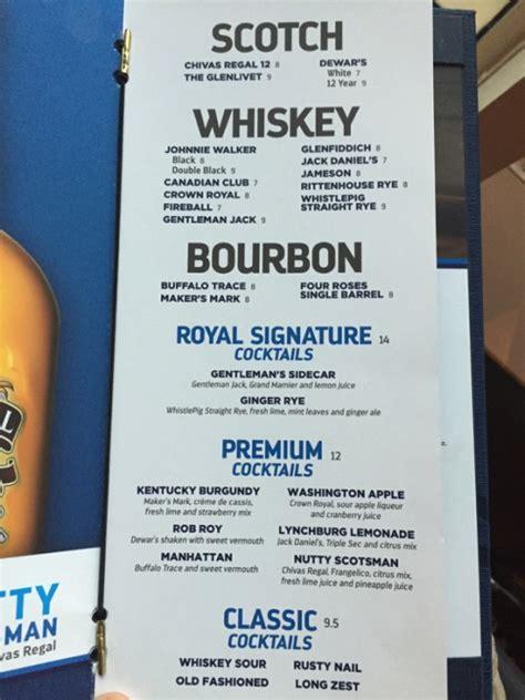 spotted  royal caribbean drink menu design royal