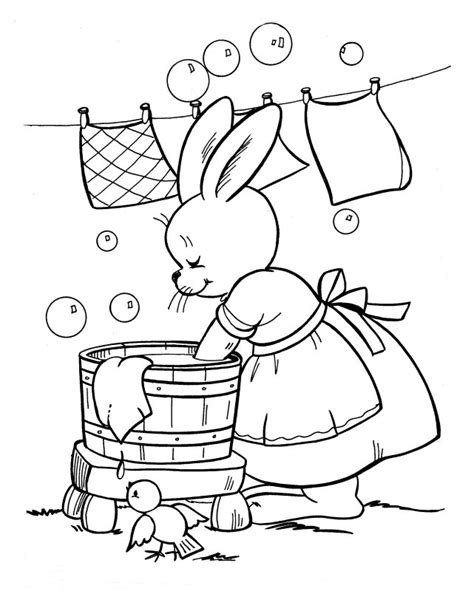 Wash  Free Colouring Pages