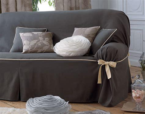 housse de canapé cuir housses fauteuil et canapés bicolores à nouettes becquet