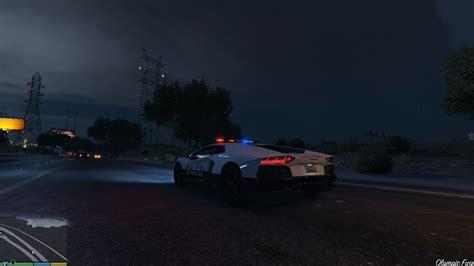 Japanese Police Lamborghini Aventador Gta5modscom