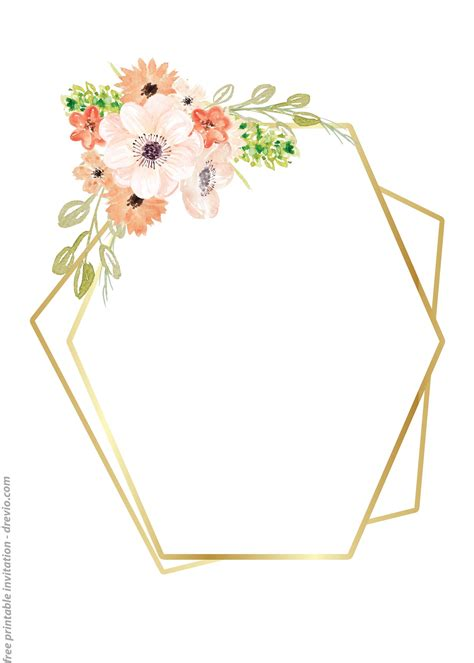 24++ FREE Printable Floral Watercolor Invitation Templates
